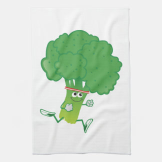 Retron Running Broccoli Kitchen Towel