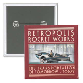 Retropolis Rocket Works Square Button