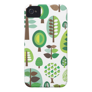 Rétros arbres et caisse verts de mûre de plantes coques iPhone 4 Case-Mate