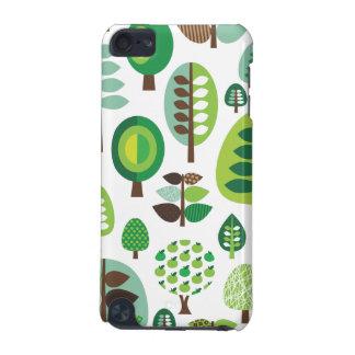 Rétros arbres et caisse verts d'iPod de plantes