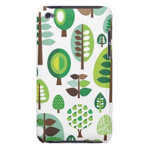 Rétros arbres et caisse verts d'iPod de plantes Coques iPod Touch