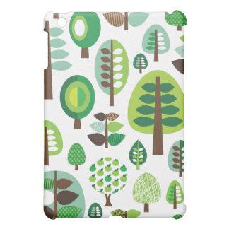 Rétros arbres et coque ipad verts de plantes