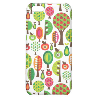 Rétros arbres et coque iphone de motif de pommes étui iPhone 5C