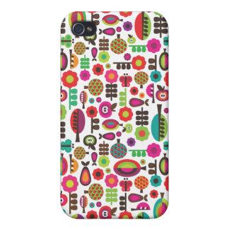 Rétros arbres et coque iphone de motif de pommes étui iPhone 4/4S