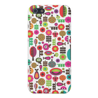 Rétros arbres et coque iphone de motif de pommes iPhone 5 case