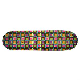 Rétros carrés colorés super plateau de planche à roulettes