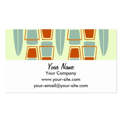 Rétros cartes de visite inspirés de planche de sur modèle de carte de visite