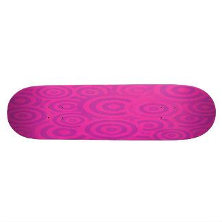 Rétros cercles roses et pourpres géniaux plateaux de skate