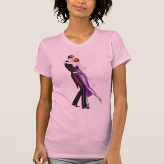 Rétros danseurs vintages de Deco de femmes de femm T-shirts