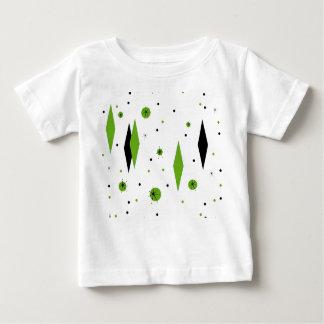 Rétros diamants verts et T-shirt de bébé de