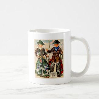 Rétros équipements vintages de cowboy de garçons d tasse à café