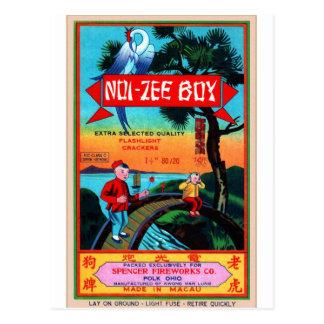 Rétros garçons vintages du pétard NOI-Zee de Carte Postale