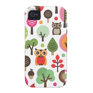 Rétros hibou et coque iphone mignons de motif d ar coque Case-Mate iPhone 4