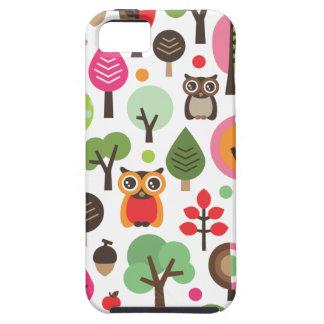 Rétros hibou et coque iphone mignons de motif d'ar coque iPhone 5 Case-Mate