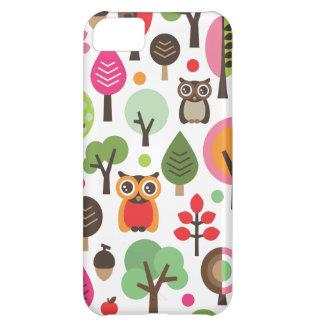 Rétros hibou et coque iphone mignons de motif d'ar coque iPhone 5C
