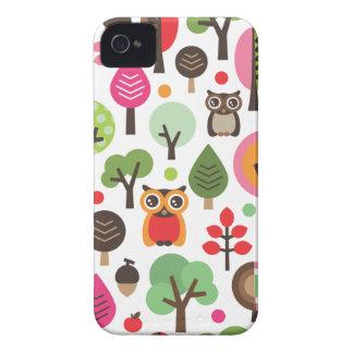 Rétros hibou et coque iphone mignons de motif d'ar coques Case-Mate iPhone 4