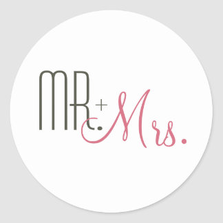Rétros joints modernes d'enveloppe de mariage sticker rond