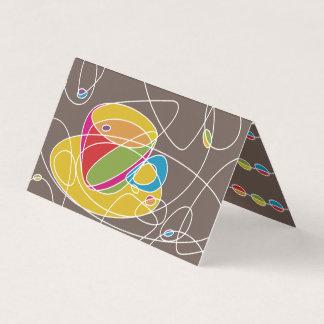 rétros lignes carte pliée de café de timbre de