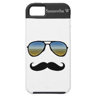 Rétros lunettes de soleil drôles avec la moustache étui iPhone 5