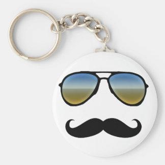 Rétros lunettes de soleil drôles avec la moustache porte-clef