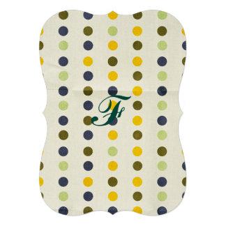 Rétros, point de polka, couleurs de motif, à la carton d'invitation  12,7 cm x 17,78 cm