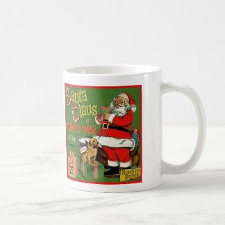 RetroSantaRecord-ClassicWhiteMug 11oz Classic White Coffee Mug