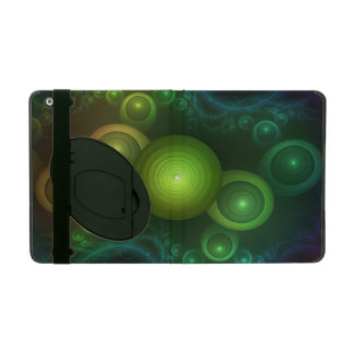 Retrotacular Rainbow Dots in a Fractal Microscope iPad Case