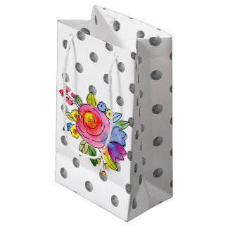 Retto floral polka dots design small gift bag
