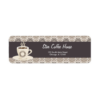 Return Address Coffee House Return Address Label