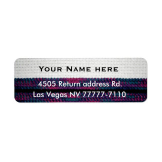 Return address crochet-look