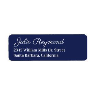 return address dark-blue