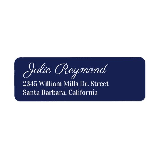 return address dark-blue
