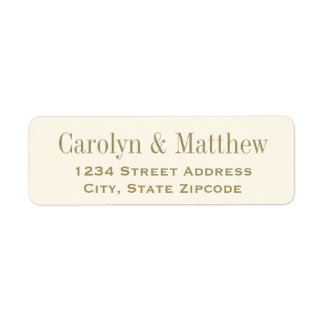 Return Address Label | Antique Gold