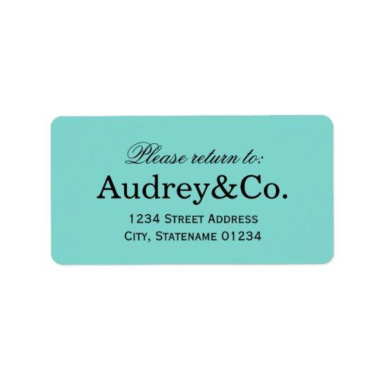Return Address Label | Aqua Blue