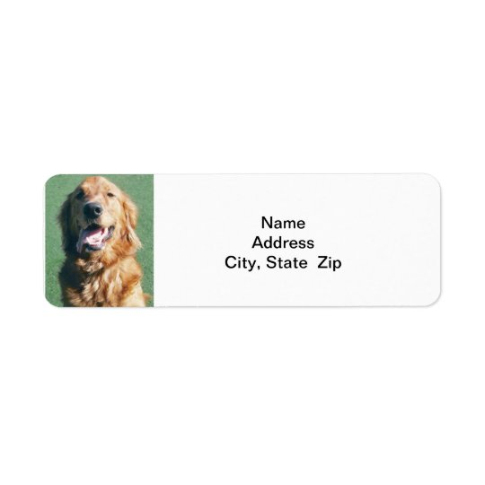 Return Address Label, Golden Retriever Return Address Label