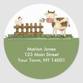 Return Address Label Home Sweet Farm Envelope seal