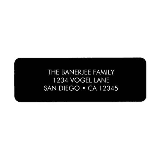 Return Address Label in Black