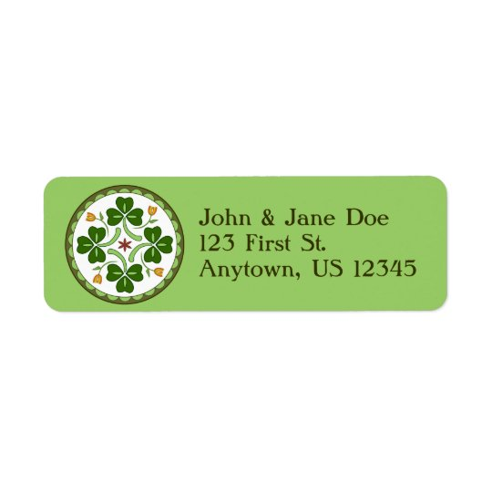Return Address Label - Irish Good Luck Hex