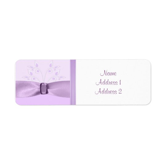 Return Address Label Lavender Lane