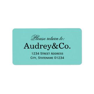 Return Address Label Little Blue Box Theme