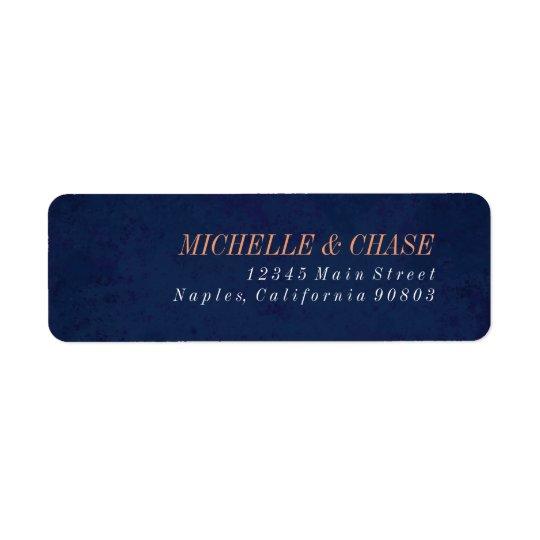 Return Address Label, Navy Blue, Wedding label Return Address Label