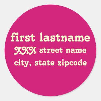 return address label - personalize