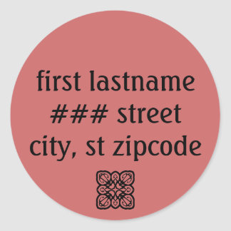 return address label - personalize info