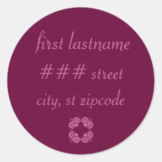 return address label - personalize info