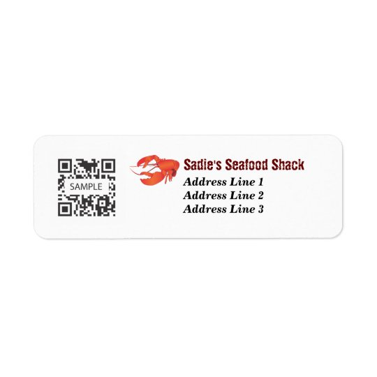 Return Address Label Seafood Restaurant