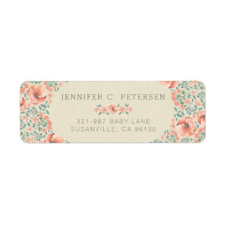 RETURN ADDRESS LABEL | Vintage Floral Storybook