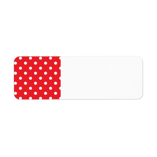 Return address label : with Folk dots