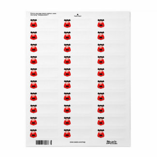 Return address label with Red little Geishas