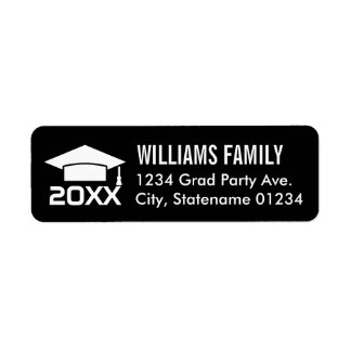 Return Address Labels | 2018 Graduation Cap