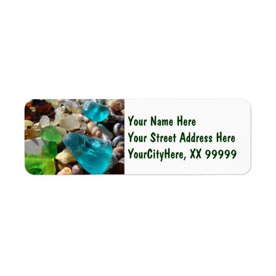 Return Address Labels Beach Seaglass Agates
